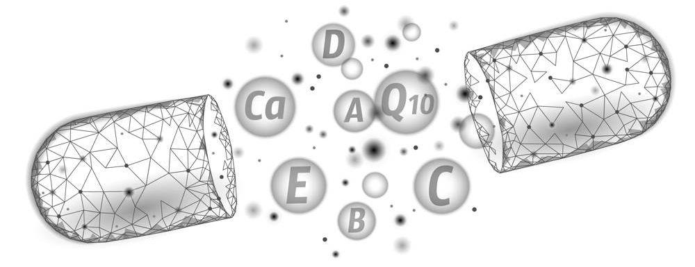 Kapsułka z zestawem witamin i minerałów