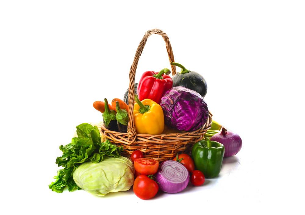 Kosz warzyw dla wegetarianina