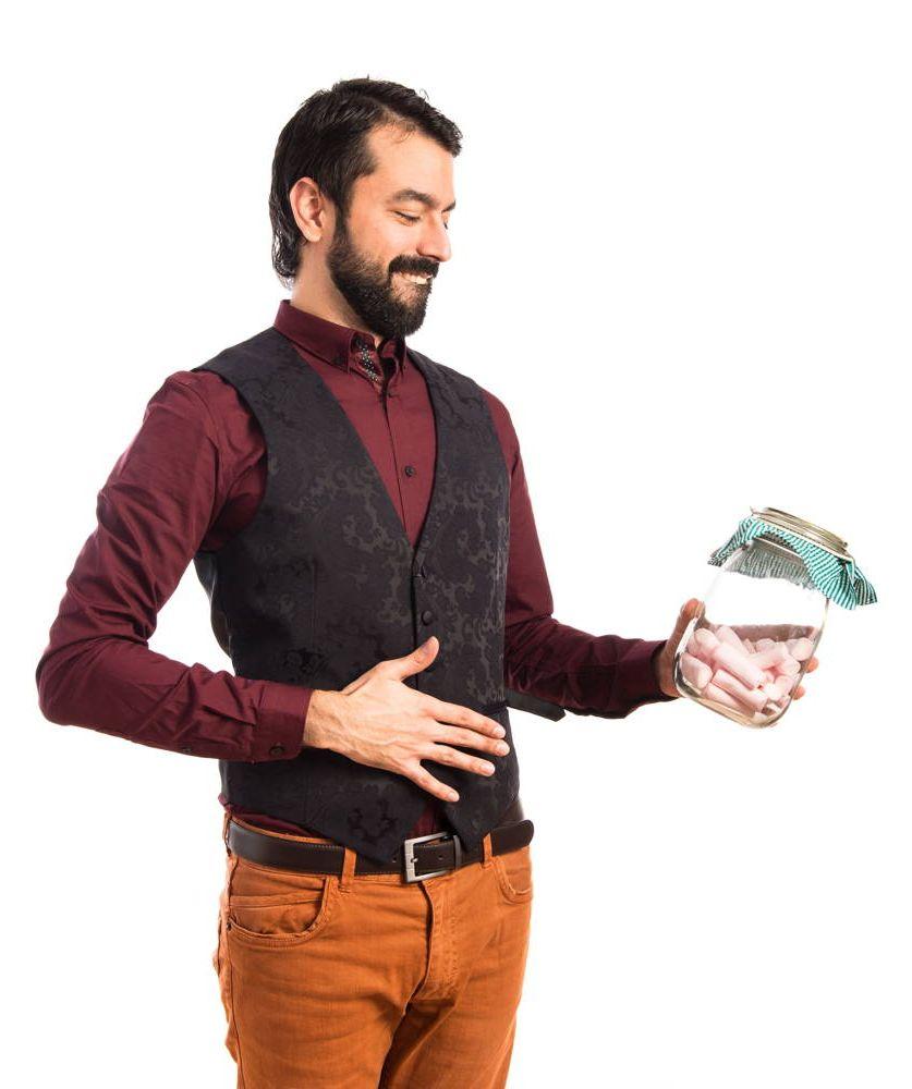 Mężczyzna kuszony słodkościami zmaga się z cukrzycą