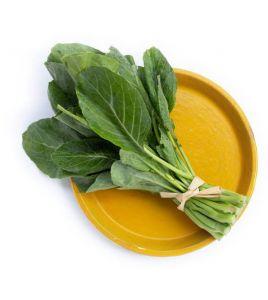 Talerz liści dla wegetarianina bez witaminy B12