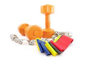 Zestaw ćwiczeń z gumami oporowymi fitness
