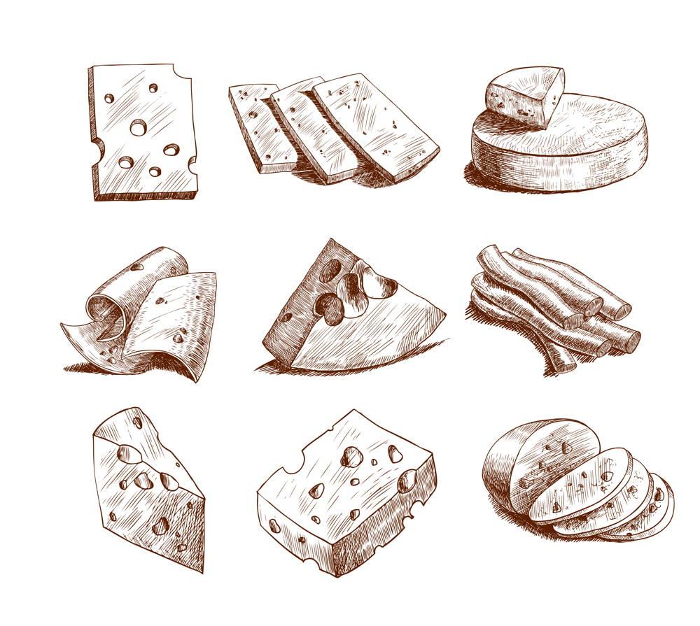 Różne odmiany sera wysokobiałkowego